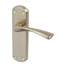 Interior Door Lever Handle in Polished Chrome or Satin Nickel