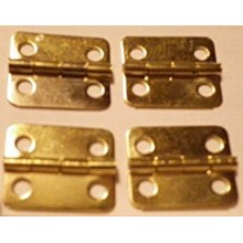 4 PACK SMALL GOLD FINISH HINGES