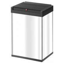 FREE STANDING SNAP TOP WASTE BIN 60L STAINLESS STEEL