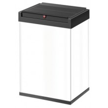 FREE STANDING SNAP TOP WASTE BIN 40L IN WHITE