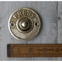 Door Bell Push Press Solid Brass 60mm / 2.5″ Dia