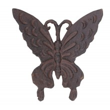 BUTTERFLY CAST IRON WALL DECORATION