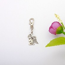 BABY ANGEL KEYRING WITH SILVER FINISH