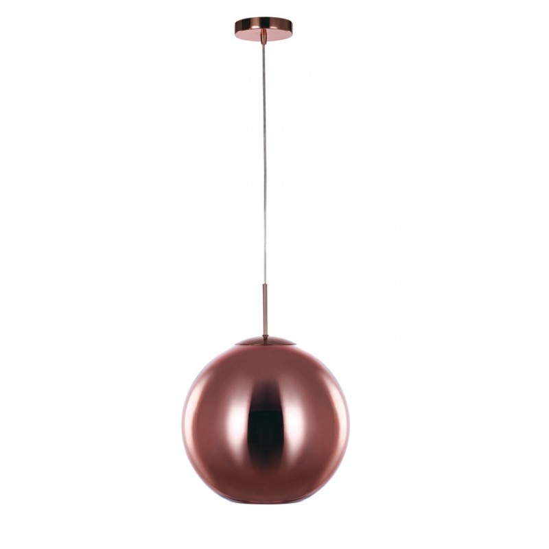 Ceiling pendant copper circular light 350mm