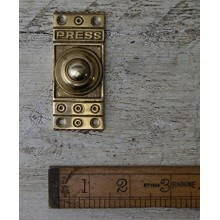 Architectural rectangular brass doorbell