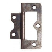 Flush Cupboard Hinge 60mm x 20mm Antique Bronze Finish