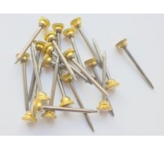 HARDENED PICTURE PINS WITH KNURLED BRASS HEAD VERY TOUGH