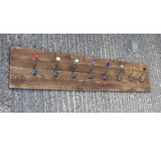 ANTIQUE NATURAL FINISH CAST IRON AND CERAMIC HAT AND COAT HOOKS CHOICE OF COLOUR
