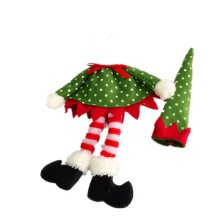 Christmas wine bottle cover wrap Elf