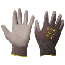 GRAY PU COATED GLOVES
