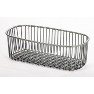 Half Bowl Sink Strainer Basket Kitchen Accessory Grey (1)