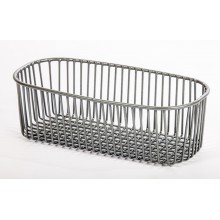 Half Bowl Sink Strainer Basket Kitchen Accessory Grey