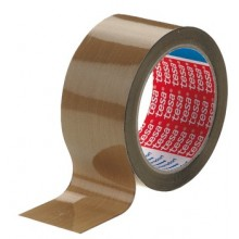 2 PK BROWN SOLVENT RUBBER ADHESIVE TAPE 66M ROLL