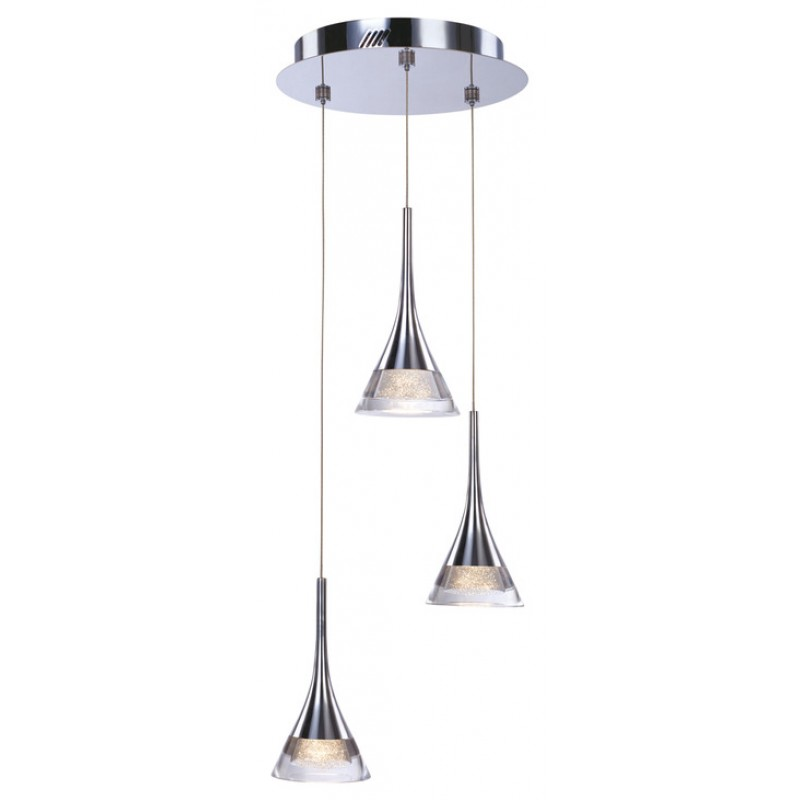 Height Adjustable Led Pendant Light Drop: Led Ceiling Pendent Adjustable 3 Drop Light