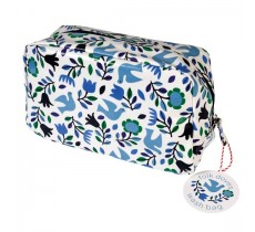 FOLK DOVES OILCLOTH WASH BAG