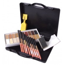 Hard Wax Repair Light to Dark Shades Case Kit with Graining Pens