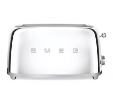Smeg 50's Retro Style Toaster Four Slice with Two Large Slots Chrome