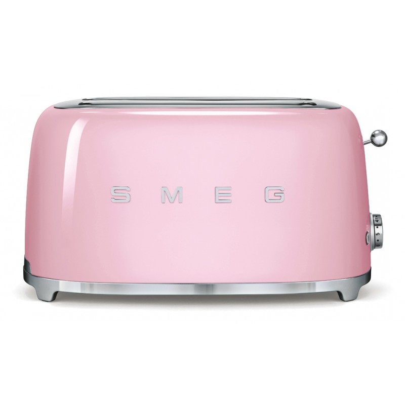 Smeg 50's Retro Style Toaster Four Slice with Two Large Slots Pink
