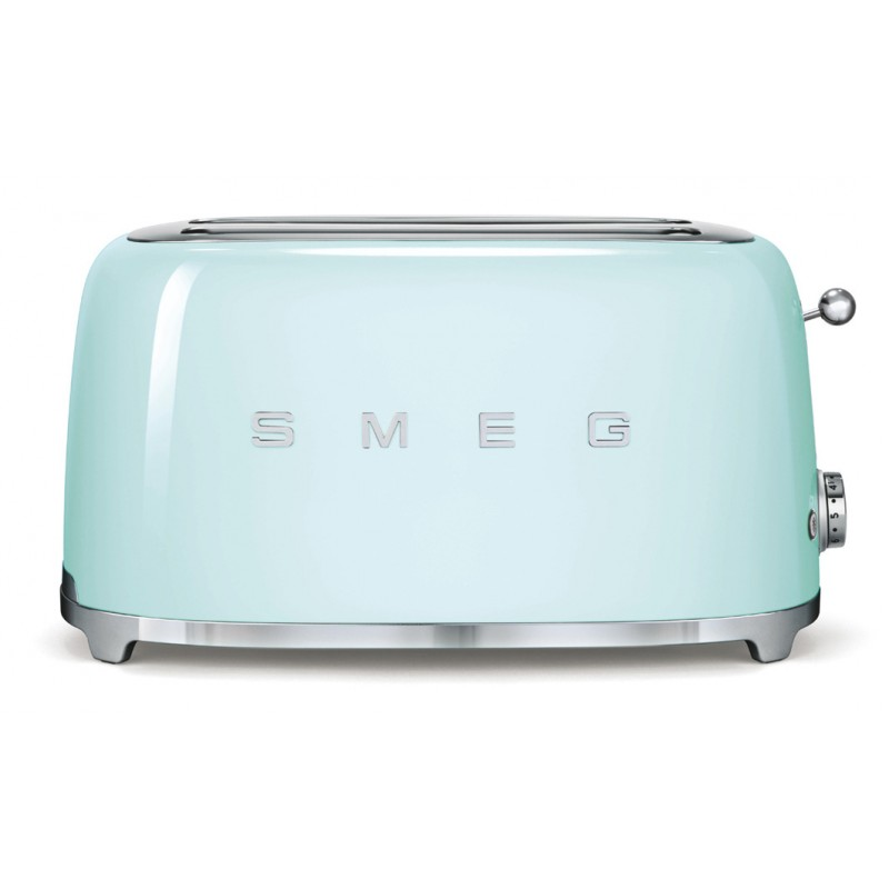 Smeg 50's Retro Style Toaster Four Slice with Two Large Slots Pastel Green
