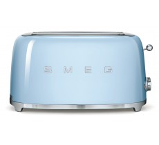 Smeg 50's Retro Style Toaster Four Slice with Two Large Slots Pastel Blue