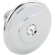 POLISHED CHROME SPARKLE DOOR KNOB WITH SWAROVSKI CRYSTAL