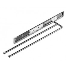 2 ARM TOWEL RAIL IN POLISHED CHROME - PLATED STEEL
