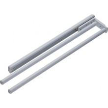 2 ARM ALUMINIUM PULL OUT TOWEL RAIL