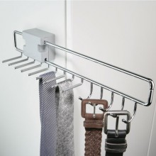 PULL OUT TIE AND BELT POLISHED CHROME RACK