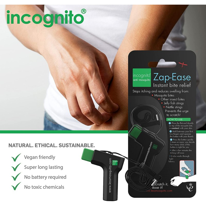 INCOGNITO Zap Ease Electronic Insect Sting & Bite Relief Mosquito