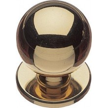 POLISHED BRASS DOOR KNOB PLEAS CHOOSE SIZE AND QTY