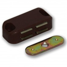 BROWN MAGNETIC DOOR CATCH AND PLATE
