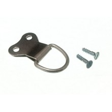 DOUBLE NICKEL D RING PICTURE HANGING HOOK PACK OF 25 SCREWS INC