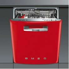 SMEG 50'S RETRO BUILT IN DISHWASHER 600MM RED